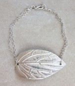 Bracelet with silver leaf – Ibiza
